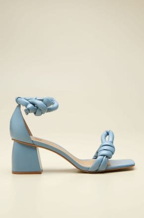 KNOT-TIE CHUNKY HEEL SHOES