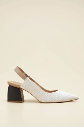 LEATHER CHUNKY HEEL SHOES