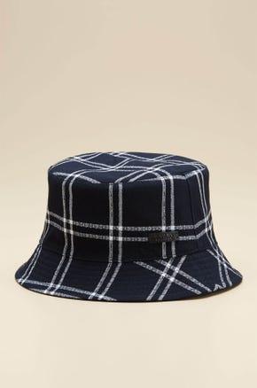 REVERSIBLE PLAID BUCKET HAT