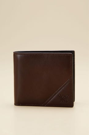 COIN POCKET BIFOLD LEATHER WALLET