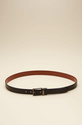 REVERSIBLE SQUARE BUCKLE LEATHER BELT