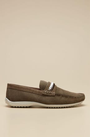 LOAFERS SHOES WITH METAL BRAIDED  DETAIL