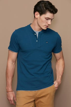 TWO LAYERS HENLEY TEE
