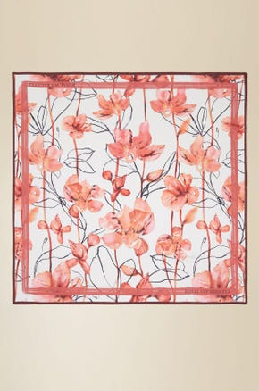 AUTUMN FLORAL PRINTED SCARF