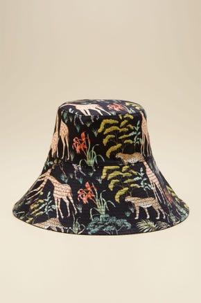 WILDLIFE PRINTED WIDE BRIM HAT