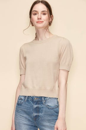 FLAT KNITTED TEE