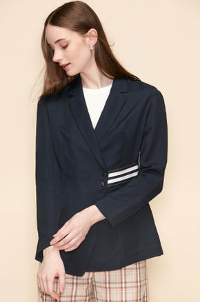 CASUAL BLAZER WITH STRIPED TAPE