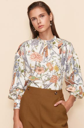 FOREST PRINTED BLOUSE