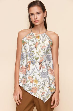 FOREST PRINTED HALTER TOP
